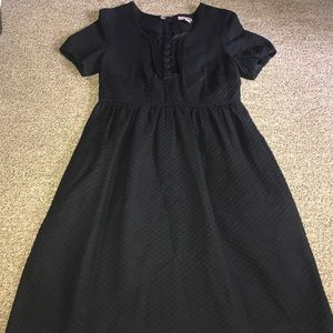 H&M Black Textured Dress Size 8